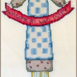 Cross stitch - Woman Welcoming